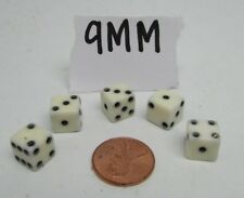 Vintage Sets Of 5 Dice In Plastic Carrying Cases Various Sizes and Colors