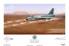 Royal Saudi Air Force BAC Lightning F.53 Digital Art Print