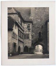 Rarität! um 1915 KOHLEDRUCK Stadttor, Rothenburg, von J. DAIMER