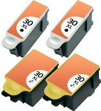4x TINTE PATRONEN für KODAK 30 XL ESP OFFICE SERIE 2100 2150 2170 HERO 3.1 5.1