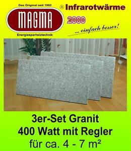 3-er Set Magma Infrarotheizung  Standheizkörper Magma 400 W 04.GW.610RS