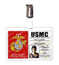 Resident Evil 0 USMC Marine Corps Billy Coen ID Badge Cosplay Prop Halloween