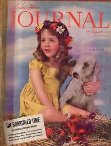 1938 Ladies Home Journal August  -Bedlington Terrier;Norman Rockwell;Women & War
