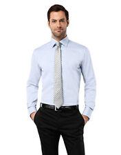 Schlanke-Größen-unifarbene klassische Herrenhemden mit Umschlagmanschette