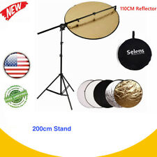 110cm Photography Reflector Extendable Reflector Holder Arm + Light Stand Kit
