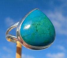 Chrysokoll aus Peru - Ring Gr. 18 Silber 925