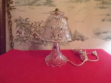 Vintage Princess House Heritage Etched Floral Crystal Glass Lamp & Shade