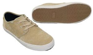 TOMS Carlo Micro Coduroy Lace Up Men's Sneakers NIB Light Toffee Beige