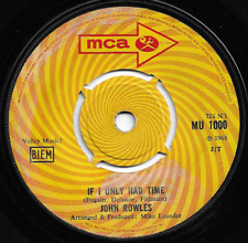 JOHN ROWLES - IF I ONLY HAD TIME / NOW IS THE HOUR - ORIGINAL 60s POP VOCAL 1968