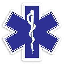 2 x 10cm Medical Symbol Vinyl Stickers - Caduceus Doctor Nurse Sticker #31105