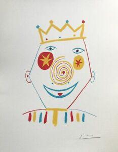 """Pablo Picasso, """"Il Clown"""", 32x41 litografia 1962"""