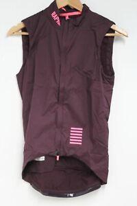 RAPHA Men's Burgundy Pro Team Sleeveless Insulated Roadware Gilet Size XS NEW