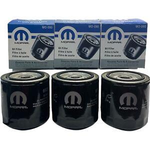 Mopar Engine Oil Filter MO090 Pack Of 3 For Chrysler Dodge Jeep Genuine OEM