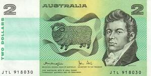 AUSTRALIA $2 BANKNOTE Knight Stone - aUNC EXCELLENT NO FOLDS, NO FAULTS NO MARKS