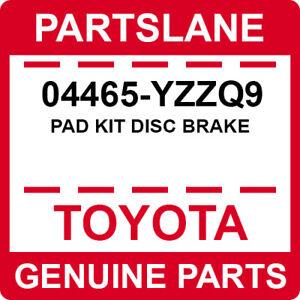 04465-YZZQ9 Toyota OEM Genuine PAD KIT DISC BRAKE