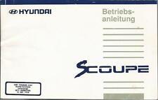 HYUNDAI S-COUPE Betriebsanleitung 1994 Bedienungsanleitung Handbuch Bordbuch BA