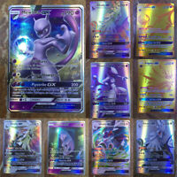 200pcs Latest Pokemon Cards 195 GX +5 MEGA English Holo Flash Trading GX Cards Q