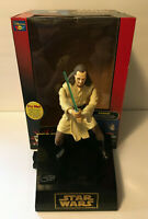 Vintage Star Wars Phantom Menace Qui-Gon Interactive Talking Coin Bank w/ Box