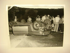 Vintage Car Wreck Photo NH Accident Scene 1958 Chevy Blood Fatal Death PP044