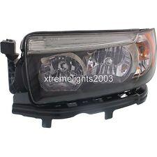 SUBARU FORESTER 2006-2008 LEFT DRIVER SPORT BLACK HEADLIGHT HEAD LAMP FRONT