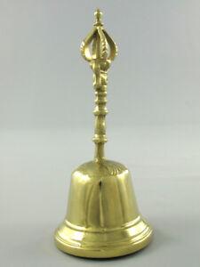 Campana Tavolo Bell a Mano Campanella Babbo Natale Di Solido IN Ottone 19,5cm M