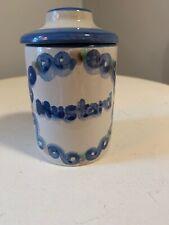 M A Hadley Mustard Jar With Lid New