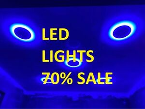 Dual Color LED Panel Recessed Ceiling Down Light Cool White + Blue / Spotlight