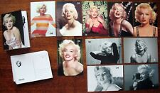 A set of postcards with photos of Marilyn Monroe.