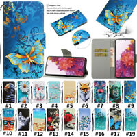 For Samsung Galaxy S20 FE 5G Painted Flip Leather Wallet Purse Card Case Cover