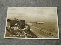 Real Photo Lincolnshire postcard- Ross Castle & promenade - Cleethorpes