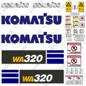 Komatsu WA320-7 Decal Set Wheel Loader Decals - 7 YEAR OUTDOOR 3M VINYL!