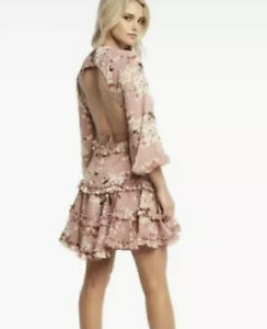 Bardot Brand New With Tag Floral Pink Dress Size 8 Backless