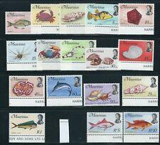 MAURITIUS 1969 FISH MARINE LIFE long set (Scott 339-356 short 354) VF MNH
