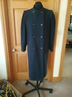 Ladies Vintage Debenhams Pure Wool Long Coat Size 12