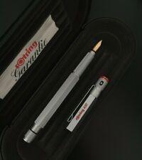 Rotring 600 Silver Fountain Pen Gold M 18k nib Bauhaus / Never Inked