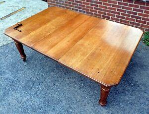 Victorian antique Arts & Crafts quarter sawn oak extending dining table seats 10