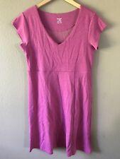 Horny Toad & Co V Neck Dress Knit Stretch Short Sleeve Yoga Pink Size M Medium