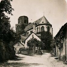 Allemagne c. 1900 - Stéréo Rue de OBERWESEL Bord du Rhin - 23