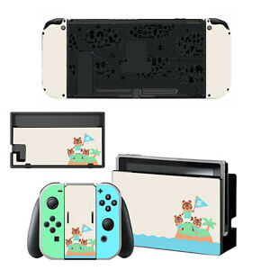 For Nintendo Switch Console Dock Vinyl Skin Stickers Decals Animal Crossing