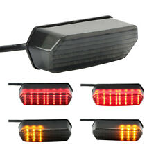 Integrated LED Tail Turn Signal Brake Light For Honda Motorcycle Universal