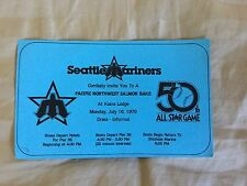 1979 SEATTLE MARINERS MLB ALL STAR GAME PARTICIPANT PARTY INVITATION