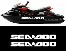 2 X LARGE SEA DOO Bombardier Jetski Quad BOAT CAR VAN,4X4 Vinyl Decal Stickers