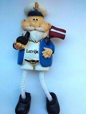 Fridge Magnet Seaman Flag Latvia Tourist Travel Souvenir & Gift M904