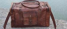 "24"" Men's Genuine Leather Large Vintage Duffle Travel Gym Weekend Overnight Bag"