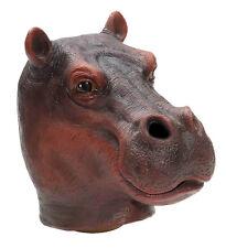 HT HOT HIPPO MASK Jumbo Head Latex Rubber Jungle Animal Costume Hippopotamus