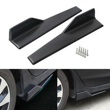 "18""x3.5"" Universal Black Car Side Skirt Rocker Splitters Winglet Wings Protector"