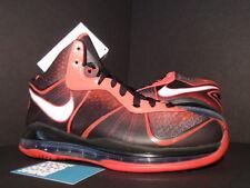 2011 Nike LEBRON VIII 8 MVP MIAMI HEAT LOOKSEE PE PROMO SAMPLE BLACK RED BRED 9
