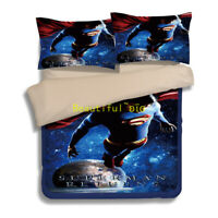 Superman Single/Double/Queen/King Bed Quilt/Doona/Duvet Cover Set Pillowcase