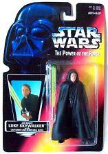 Star Wars Power of the Force JEDI KNIGHT LUKE SKYWALKER Red Card (Black Vest)