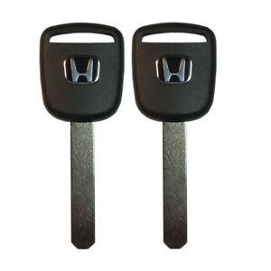 2 New Master Transponder Key 13 Chip Chipped Ignition Door Uncut For Honda
